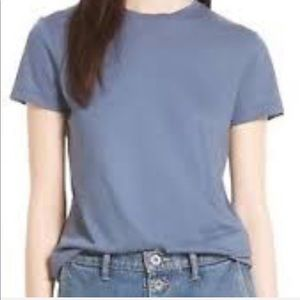 VINCE Womens Essentials Pima Crew Neck T-shirt.L